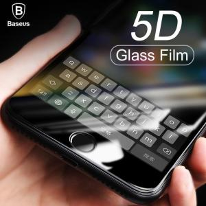5D Screen Protector Tempered Glass For iPhone X 8 7 Plus - ShopeeBazar