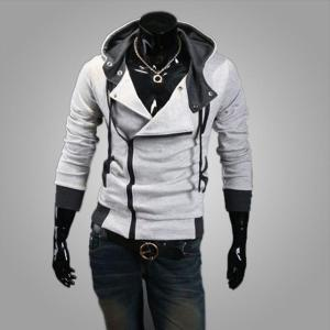 2018 Men Hoodie Sweatshirt Long Sleeved Slim Fit - ShopeeBazar
