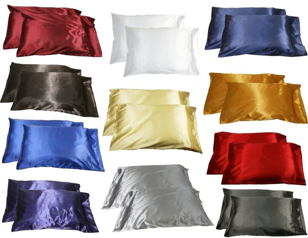QueenStandard Silk~y Satin Pillow Case
