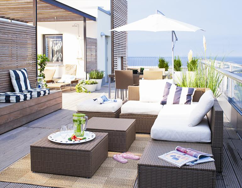 Outdoor Furniture Ideas For Balcony. outdoor wicker furniture home ...