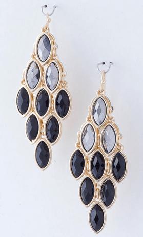Black Diamond Misha Chandelier Earrings