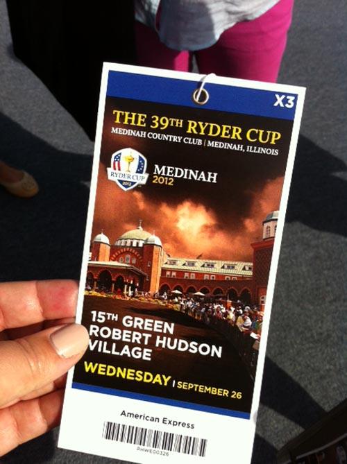 Ryder Cup ticket
