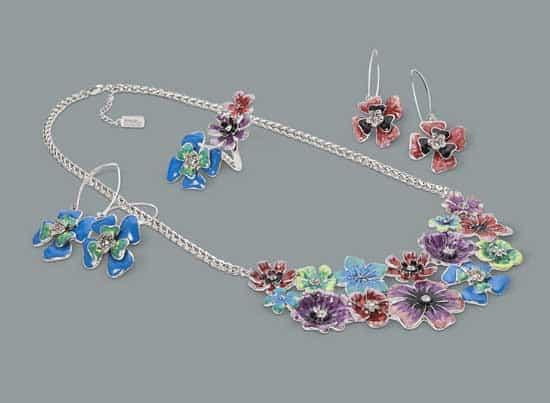 Prabal Gurung for Target Crystal teardrop earrings in silver, $16.99 Crystal teardrop necklace in silver, $39.99