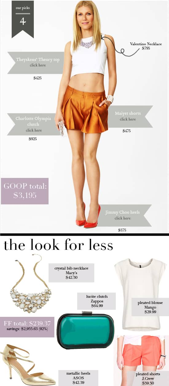 GOOP Net-a-Porter Look 4 | Get Gwyneth Paltrow's spring style for less
