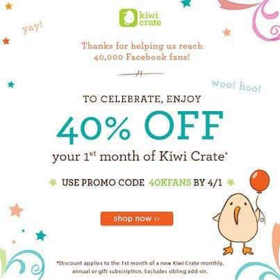 Kiwi Crate Coupon March 2013