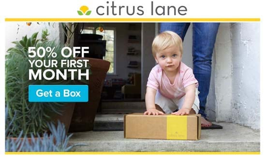 Citrus Lane Coupon: Get 50% off your first box