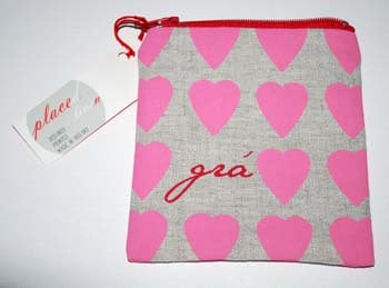 """Gra"" Pink Heart Coin Pouch from Placed"