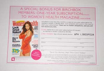 Free Women's Health Subscription