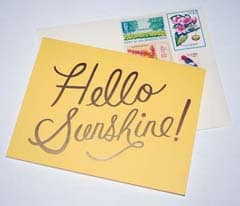 Hello Sunshine Cards from Rifle Paper Company
