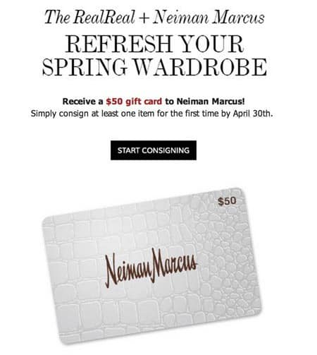Consign with The RealReal to get a $50 Neiman Marcus Gift Card ...