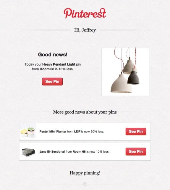 Pinterest Price Drop