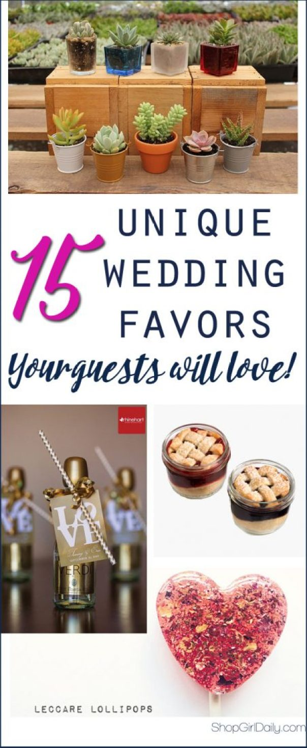 15 Unique Wedding Favors your Guests are Sure to Love | ShopGirlDaily.com