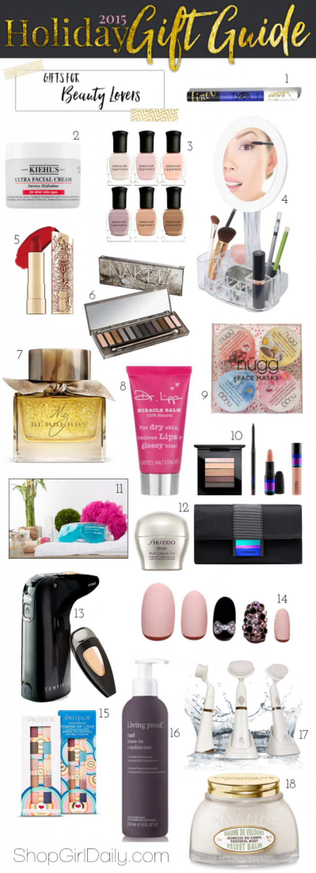 2015 Holiday Gift Guide: Beauty Gifts | ShopGirlDaily.com