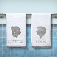 Star Wars gift ideas: Han and Leia Hand Towels