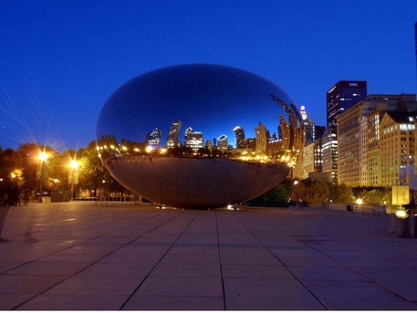 Cloud Gate in Chicago, aka The Bean