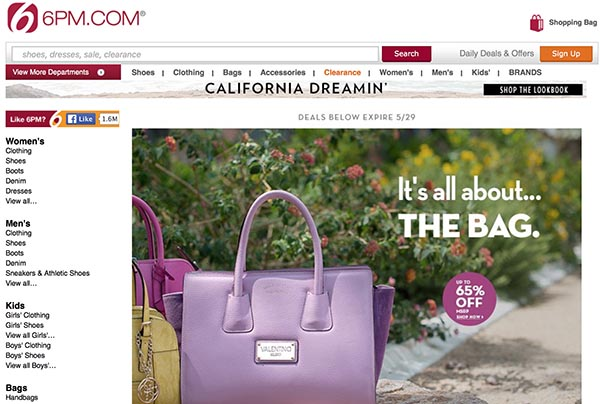 Online Off-Price Retailers: 6pm.com