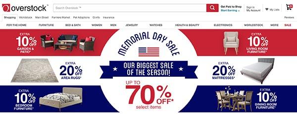 Overstock is a huge online off-price retailer