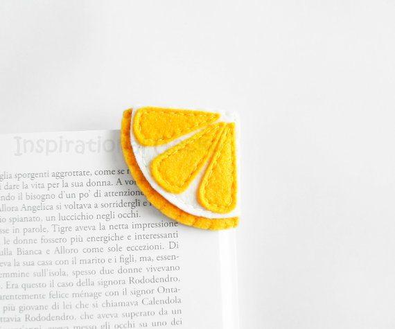 Felt Lemon Corner Bookmark