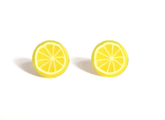 Lemon Stud Earrings from Claudia Made This