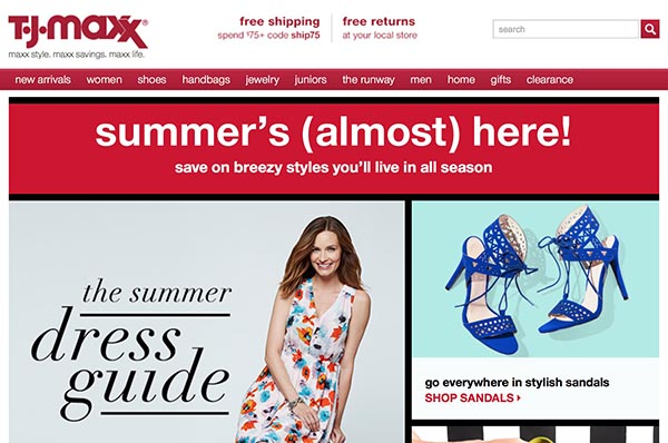 Online off-price retailers: TJ Maxx