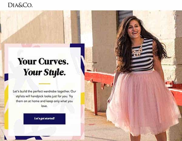 DIA & CO online personal stylist for plus size women