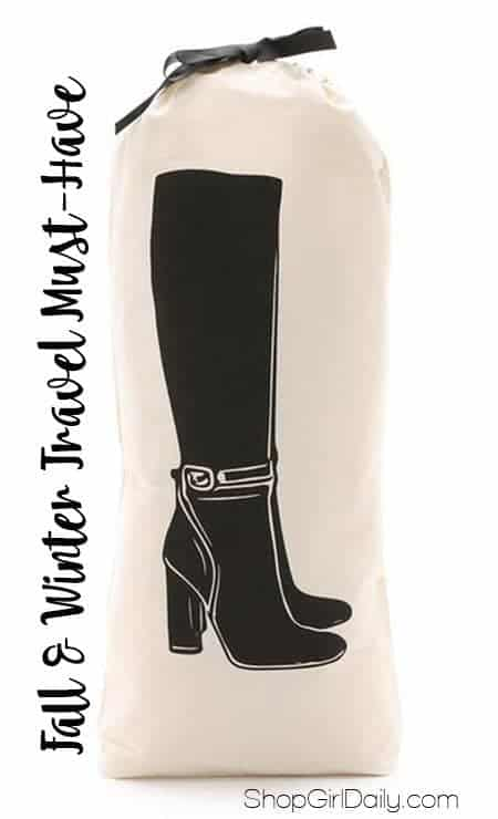 Stop wearing your tall boots when you travel and instead invest in a tall boot bag. At $18, it's a must-have fall and winter travel accessory.