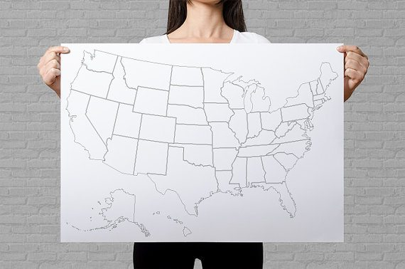 United States Coloring Poster