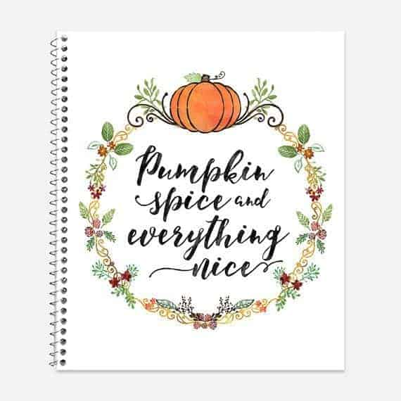 Pumpkin Spice Notebook