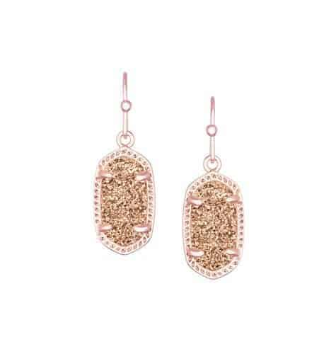 Rose Gold Drusy Earrings from Kendra Scott