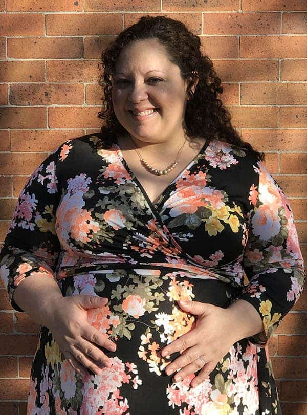 Lisa Koivu - Black Floral Sash Tie Plus Maternity/Nursing Maxi Dress from Pink Blush Maternity
