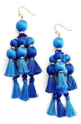 Kate Spade Pom Tassel Drop Earrings