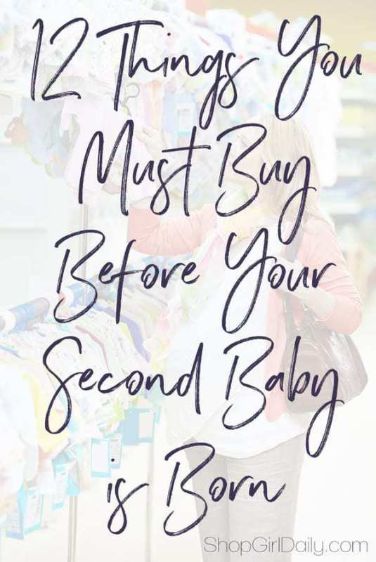 12 Items You Must Buy Before Your Second Baby is Born | ShopGirlDaily.com