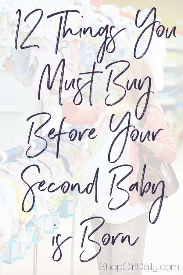 12 things you must buy before your second baby is born... don't bring that baby home without checking this list!