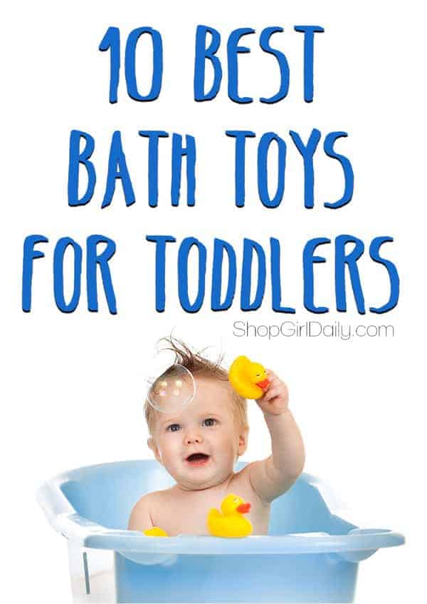 10 Best Bath Toys for Toddlers - make bath time as fun and educational (yes, really!) as possible with these fun bath toys!