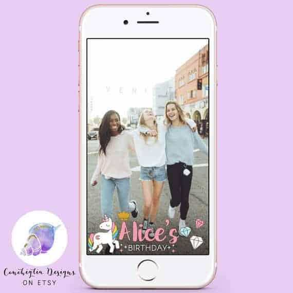 Unicorn Birthday Snapchat Geofilter