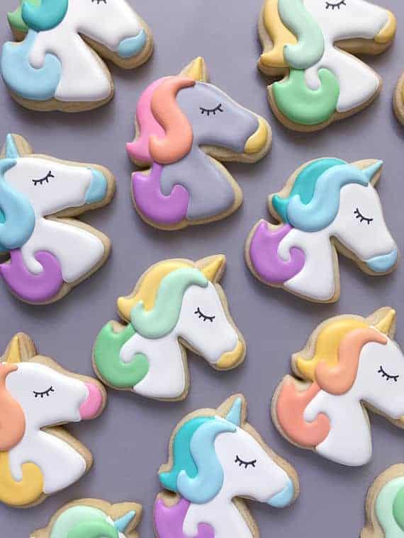 Unicorn Sugar Cookies from Holly Fox Design