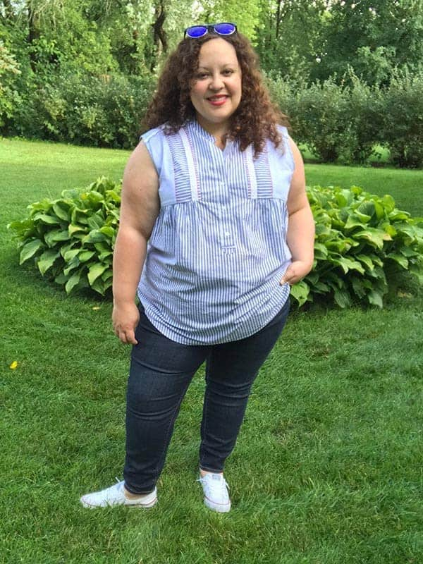 Top and Jeans from Lane Bryant