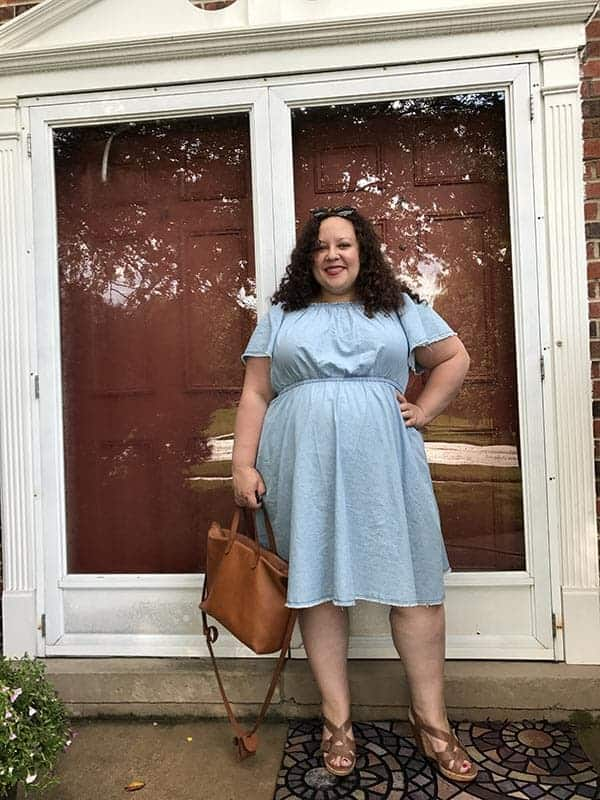 Chambray Fit and Flare Dress from Lane Bryant