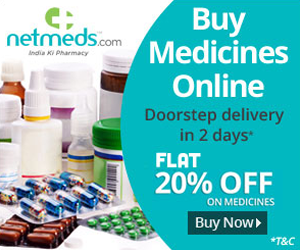 Flat 20% OFF on all Medicines & Health Products (No Minimum Order, Sitewide)