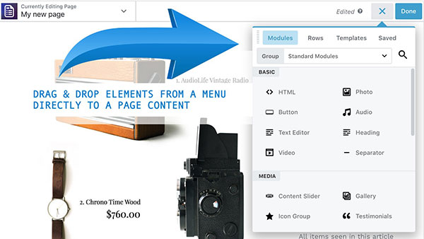 Page Builder & PRO page editor