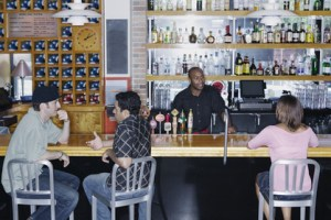 People sitting at bar