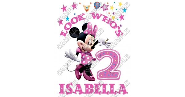 Minnie Mouse Birthday Personalized Custom T Shirt Iron