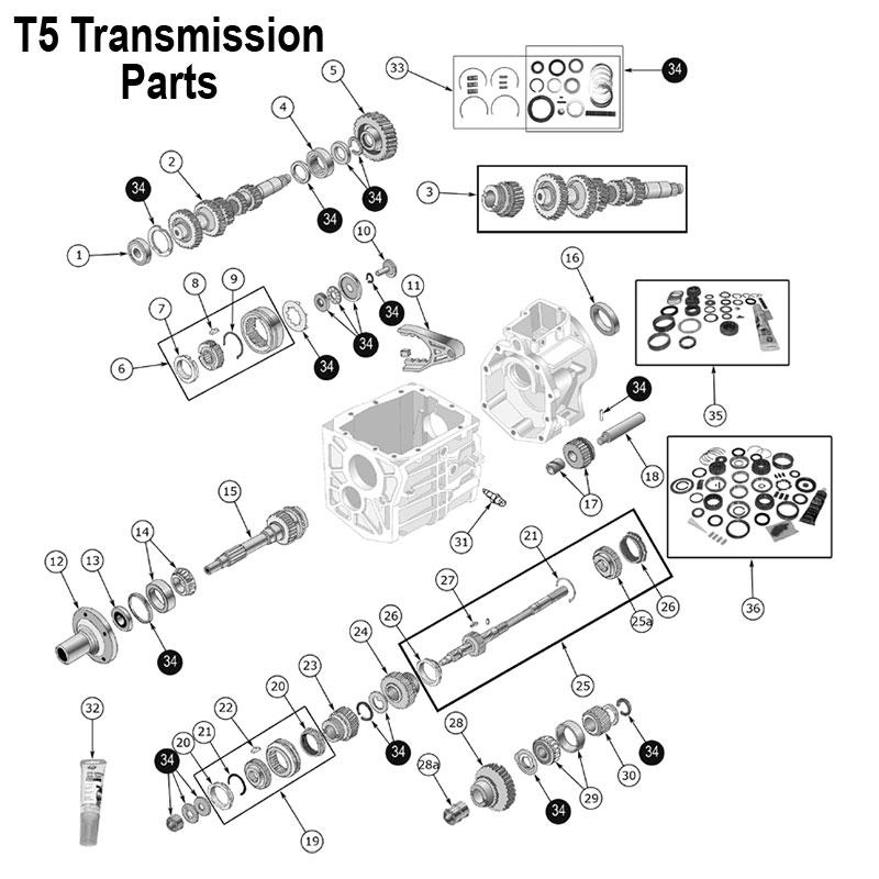 t5 transmission cluster gear jeep cj cherokee xj 83500967