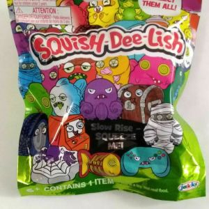 Lot Of 10 Squish-Dee-Lish Wacky Series 3 Mystery Packs – Slow Rise Squishy ~ New