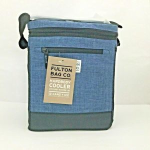 Fulton Bag Co. Hardbody 12 Cans + ICE Cooler w/ Liner & Easy Access Lid- Blue