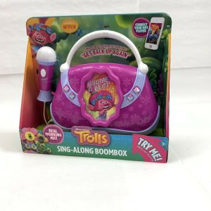 Dreamworks Trolls SING-ALONG BOOMBOX with Microphone, Purple, !New!