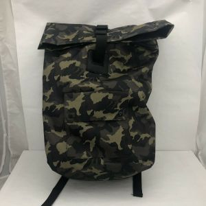 Men's Large Camo Print Rolltop Backpack –  Green Jungle Camo