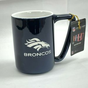 Denver Broncos Ceramic Laser Engraved Mug