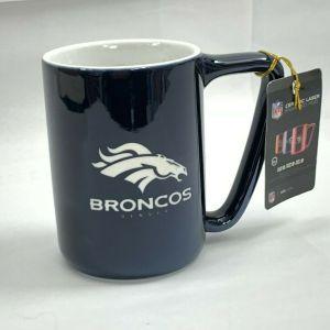 Denver Broncos Ceramic Laser Engraved Mug