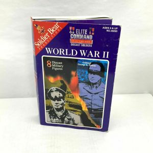 Elite Command WWII Die Cast Soldiers set of 8 George Patton Erwin Rommel